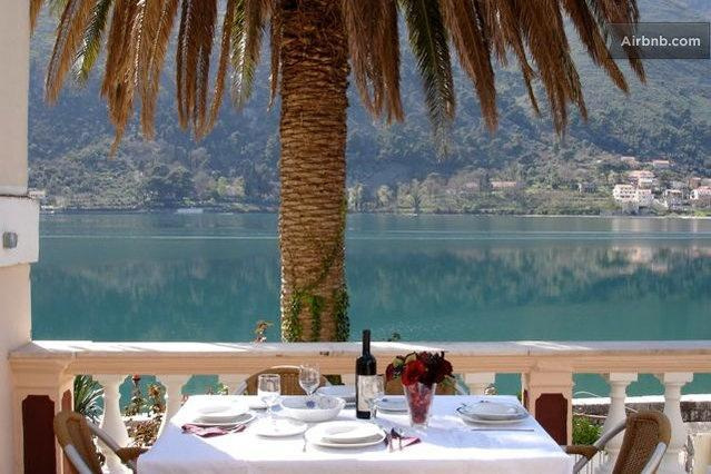 Terrace  - Waterfront Villa with Apartments Terrace, 3bedroom - Kotor - rentals
