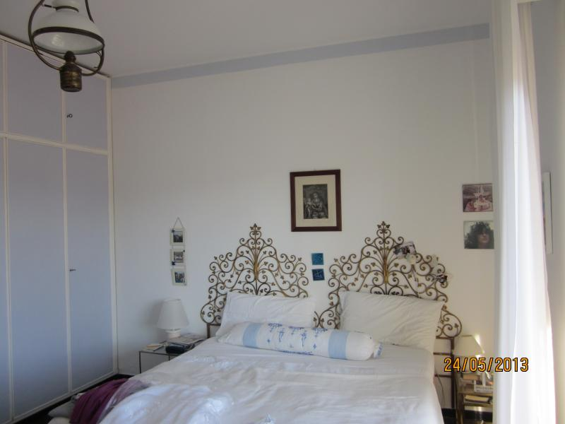 main bedroom, double bed - wonderful apartment in the Italian Riviera! - Rapallo - rentals