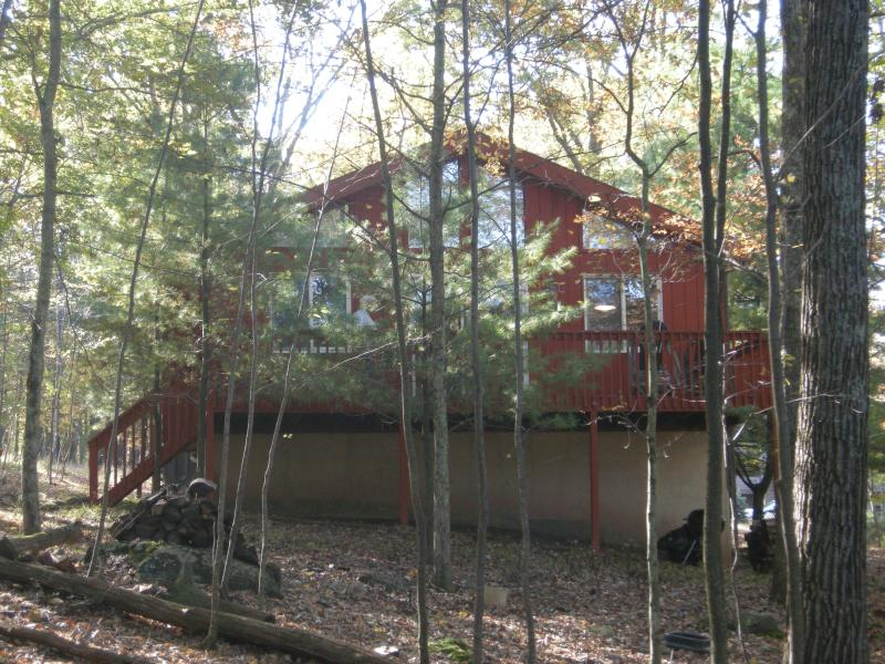 outside deck - Comfortable mountain home - Lackawaxen - rentals