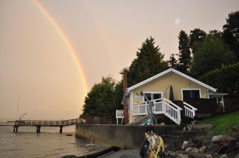 Front of the House from Beach - Vashon Island Waterfront Getaway - Vashon - rentals