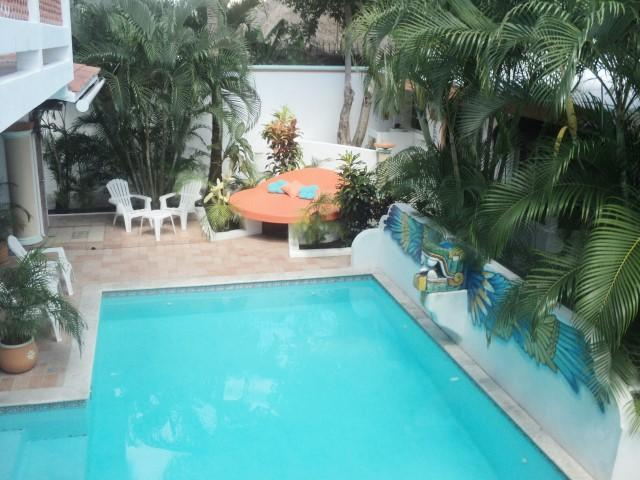 Villa Miranda Pool with custom made 8' Sunbed - VILLA MIRANDA - BEAUTIFUL PRIVATE HOME W/ LG POOL - Cozumel - rentals