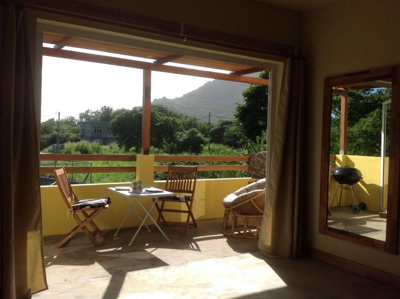 Beautique Studios 3 private dining Terrace overlooking lush fruit trees - UNESCO  Mountain  View, Beautique Studio 3 - Mauritius - rentals