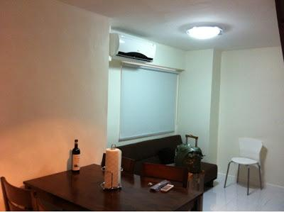 The living and dining areas on the 1st floor - 2 bedroom condo unit in Quezon City - Quezon City - rentals