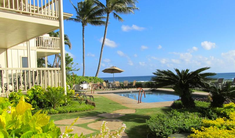 Pool and ocean views from Alihi Lani #1 - Oceanfront * A/C * 2 STEPS TO THE POOL*GREAT VIEWS - Koloa - rentals