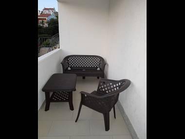 A2(2+2): terrace - 8157 A2(2+2) - Banjol - Banjol - rentals