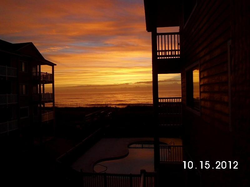 early Morning..with coffee - Oceanfront Complex-.2 Pools-Sleeps 4.-Wi-Fi.-Priva - Carolina Beach - rentals