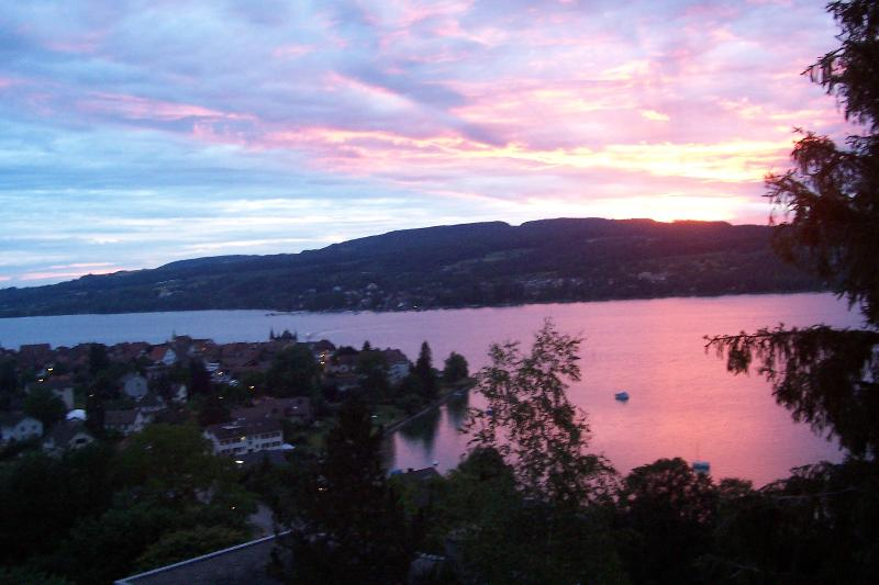 Sunset over Lake Constance, View from the Balcony - Panoramic View of Lake Constance - Steckborn - rentals