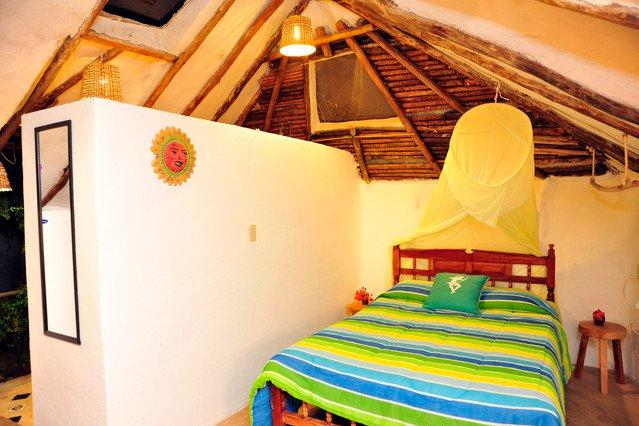 Casitas Kinsol Room #7 - A hut-style construction on the second floor of the building - Casitas Kinsol Guesthouse -Room 7- Puerto Morelos - Puerto Morelos - rentals