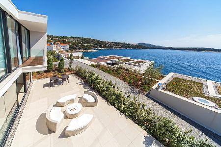 Sublime sea view Villa Annabel with sleek indoor/outdoor pool & green roof - Image 1 - Primosten - rentals