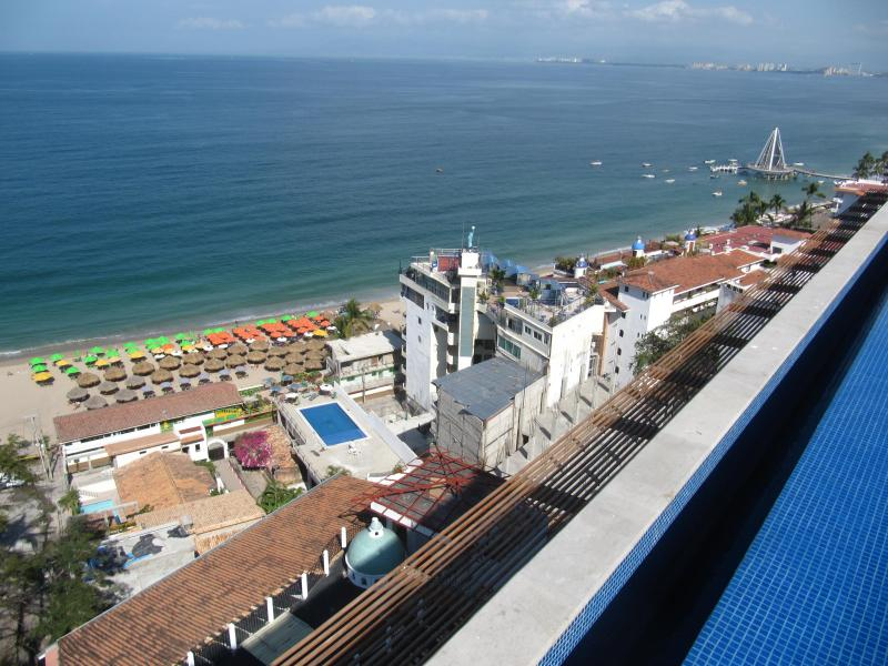 View of Beach from Rooftop - Dream Condo With Oceanview At 353 Amapas--Old Town - Puerto Vallarta - rentals