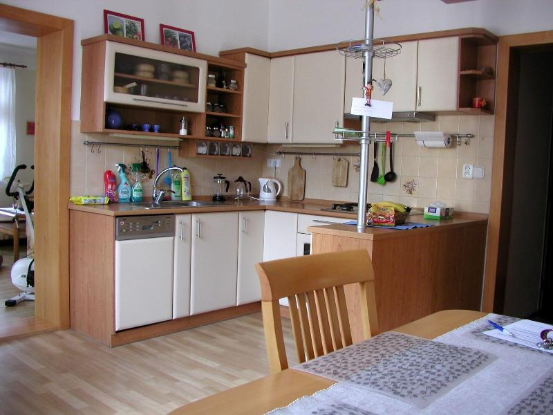 Kitchen and dining area - Lovely 3BD house in Brno ♫♪ nearby the Brno lake ♫ - Brno - rentals