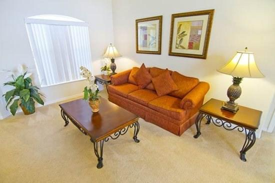 Living Area - OT4P15915RHL 4 Bedroom Vacation Home with Elegant Furnishings - Orlando - rentals