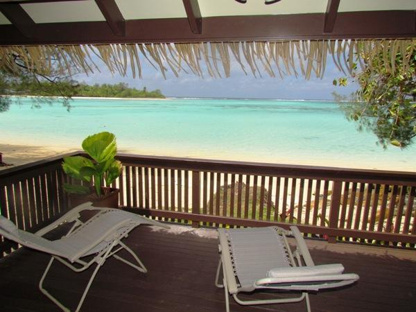 View of Lagoon from Muri Shores deck - Muri Shores, Beachfront - Rarotonga - rentals