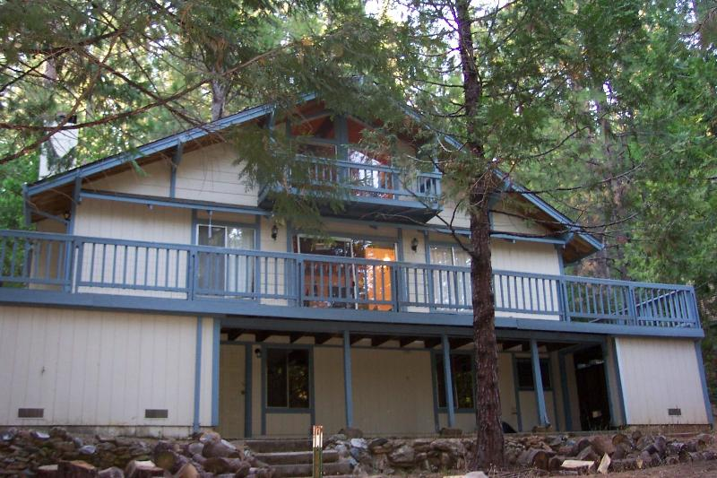 Cabin view from below - Plan A Winter Get-Away For Your Family - Twain Harte - rentals