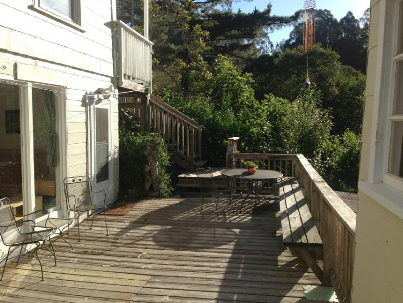 Deck from the cottage - Coastside Canyon Cottage Apartment - Great Retreat - Half Moon Bay - rentals