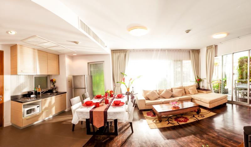 Living room - Baan Sandao Luxury Beach Service Apartment  B103 - Hua Hin - rentals