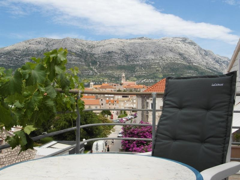 Balcony view - Room in the center of Korcula town - Yellow - Korcula - rentals