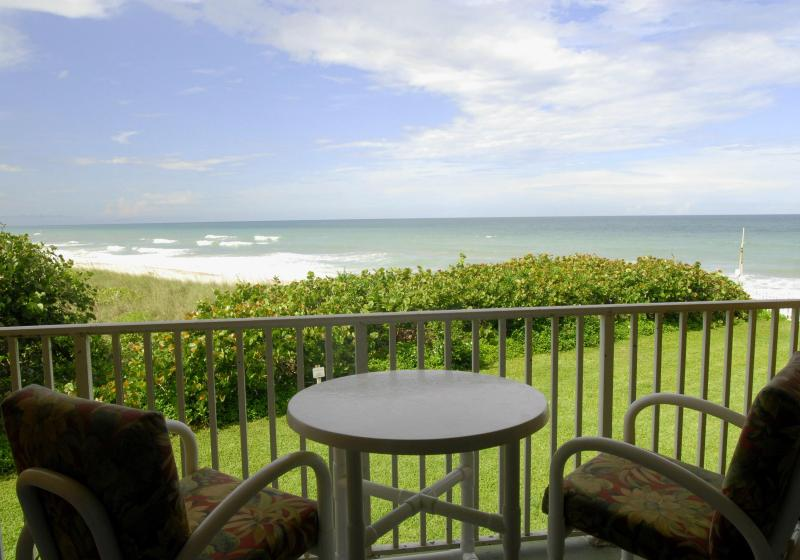 Oceanfront view from Patio - Excellent Views..On Beach...Pets OK...Fully Reno'd - Satellite Beach - rentals