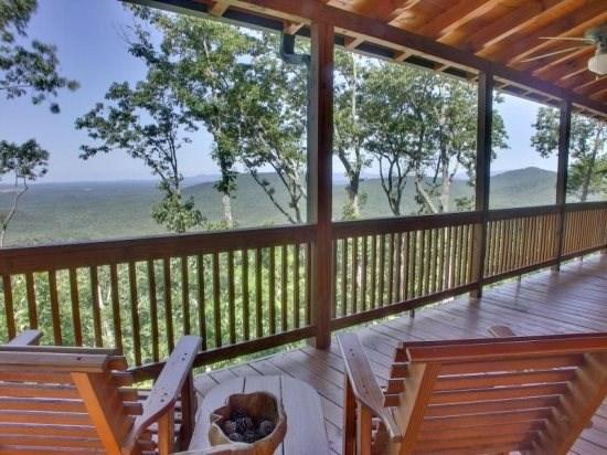 Spectacular view from the deck overlooking the mountain tops - Haven Atop Rainbow Mountain - Ellijay GA - Ellijay - rentals