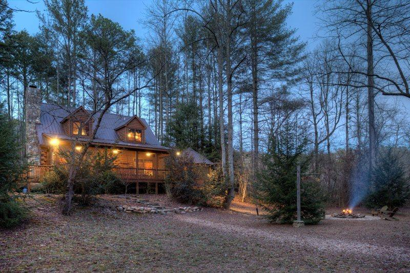Two Brook Lodge at dusk - Two Brook Lodge - Ellijay - rentals