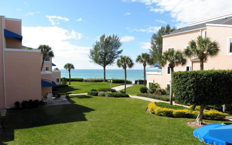 View from Patio to the Gulf of Mexico - Updated Ocean View Condo at Sand Cay Beach - Longboat Key - rentals