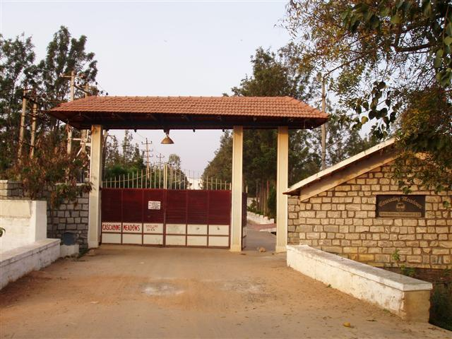 Entrance to the Layout - Villa in Bangalore in a Gated community - Bangalore - rentals