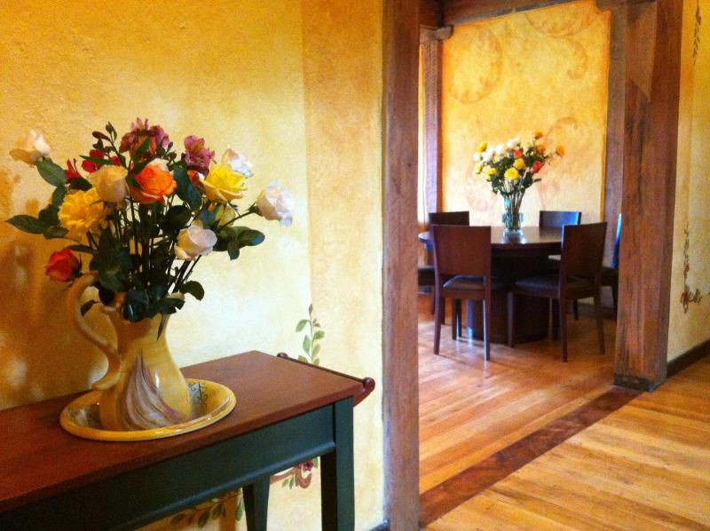 Entering your living room in Casa Moinca - Hacienda San Juan de La Vega a B&B experience - Otavalo - rentals