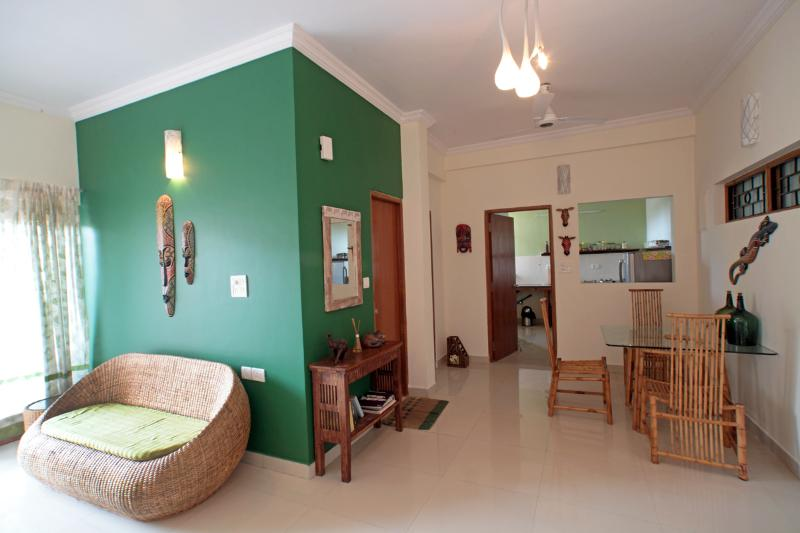 Living & Dining Area - 1 BHK Luxury Apartment in Dona Paula, Goa - Panaji - rentals
