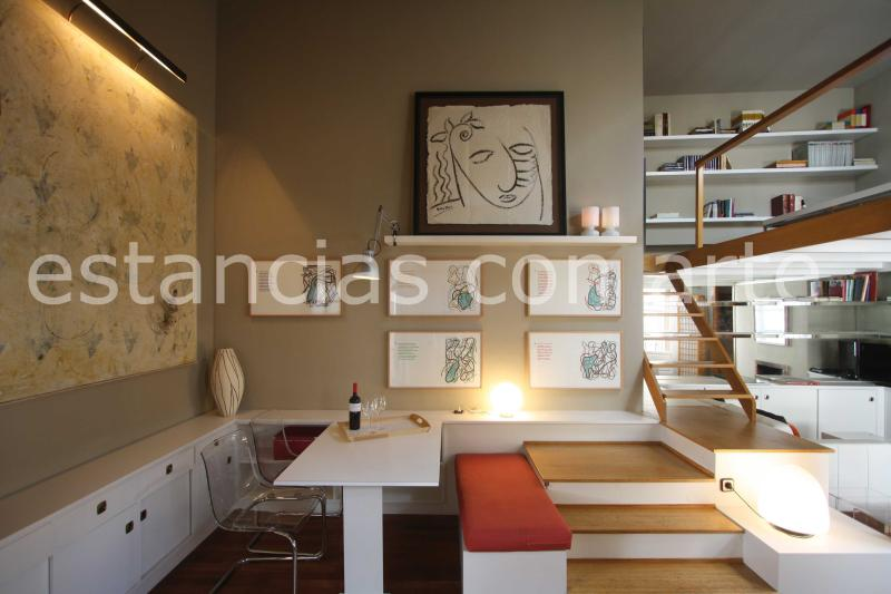 First view when entering La Galería - Great penthouse Mayor Unique modernArt Collection - Madrid - rentals