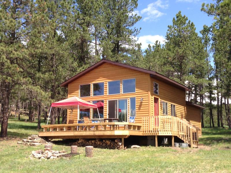 Cabin Front - optional canopy - Custer Cabin - Newly Renovated - Sleeps 8 - Custer - rentals