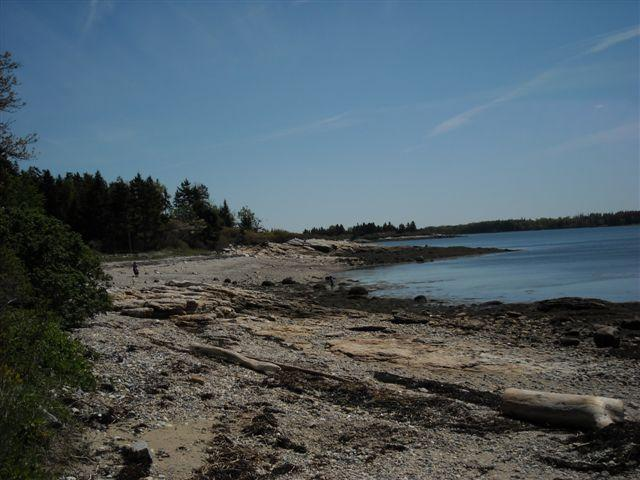 Beach across the street - Beautiful Maine oceanside getaway - Friendship - rentals