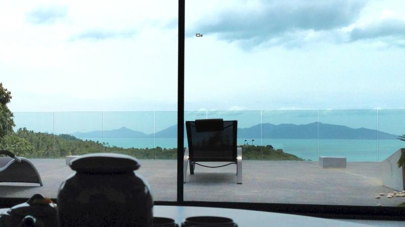 Lounge are - Beautiful Loft Top Hill Amazing view - up to 8 per - Koh Samui - rentals