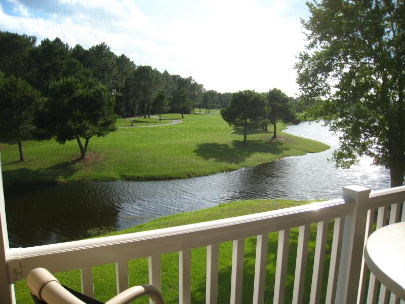 View #1 of Pond & Golf Course From Rear Screened Porch - Beautiful Golf Course Condo with Pond Views - Sunset Beach - rentals