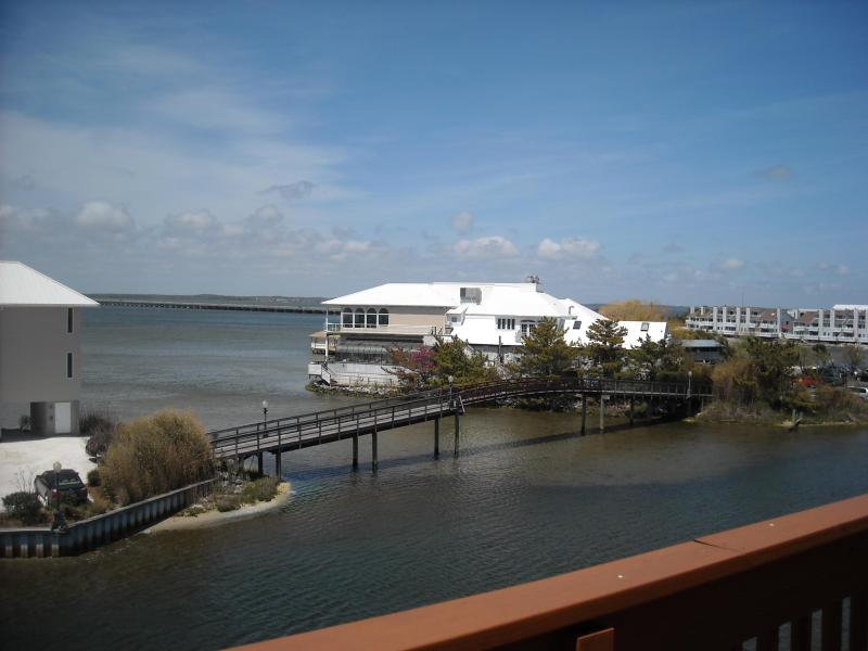 view from the balcony....overlooking Fager's Island - Bay Front unit with breathtaking sunsets! - Ocean City - rentals