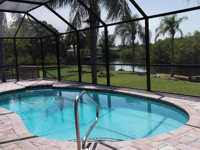 The covered POOL - Lemon Bay/Stump Pass 1-2 families Boat Dock to Gul - Englewood - rentals
