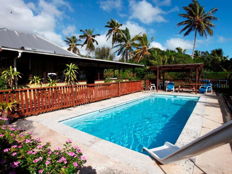 Refreshing Salt Chlorinated pool - soft on the skin. - Captains Retreat, Rarotonga - A Family Home - Rarotonga - rentals