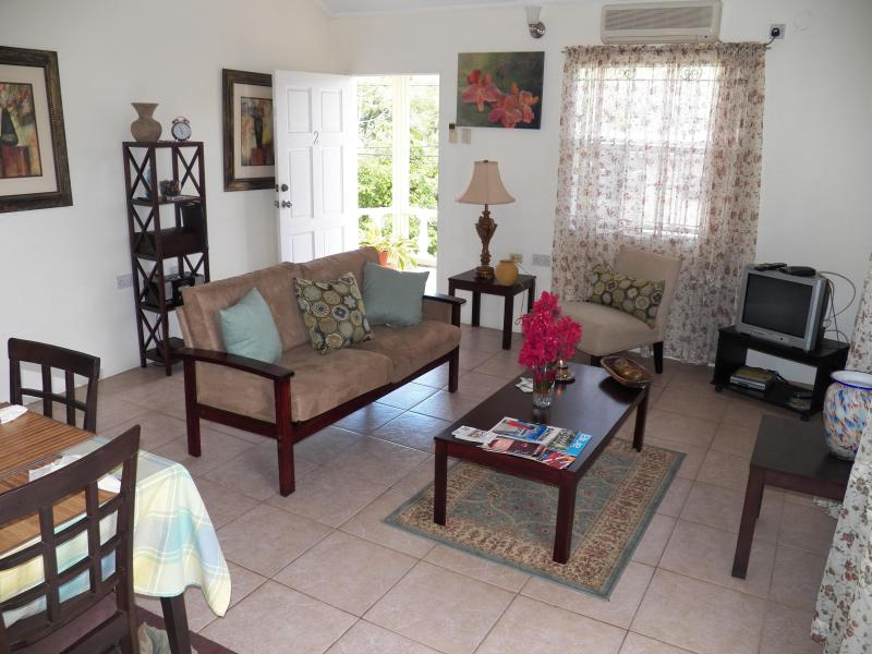 downstairs living dining area - Elinnanda Apartments/Grenada Holiday Rentals - Crochu - rentals