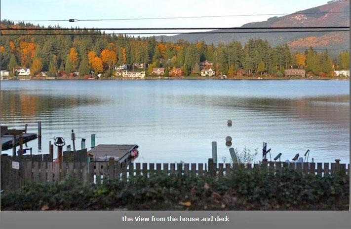View of Lake Whatcom from the Cottage - Darling Lake Whatcom Cottage - Bellingham - rentals