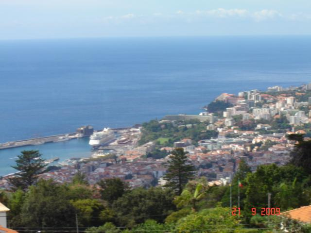 View from Balcony overlooking Gardens, City and Harbour - Spectacular View of City, Harbour and Gardens - Funchal - rentals