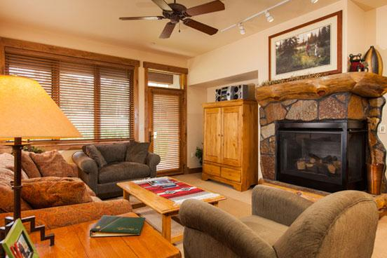 Living Room - Chamagne Lodge 3106 - 3106 Champagne Lodge, Trappeur - Steamboat Springs - rentals