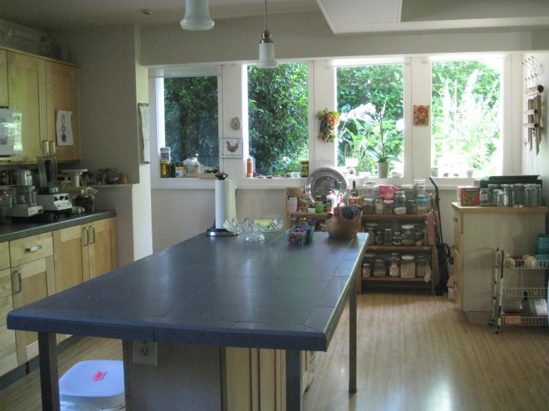 Kitchen.  Full of light, very large. - Beautiful Victorian House & Garden (inner NE PDX) - Portland - rentals
