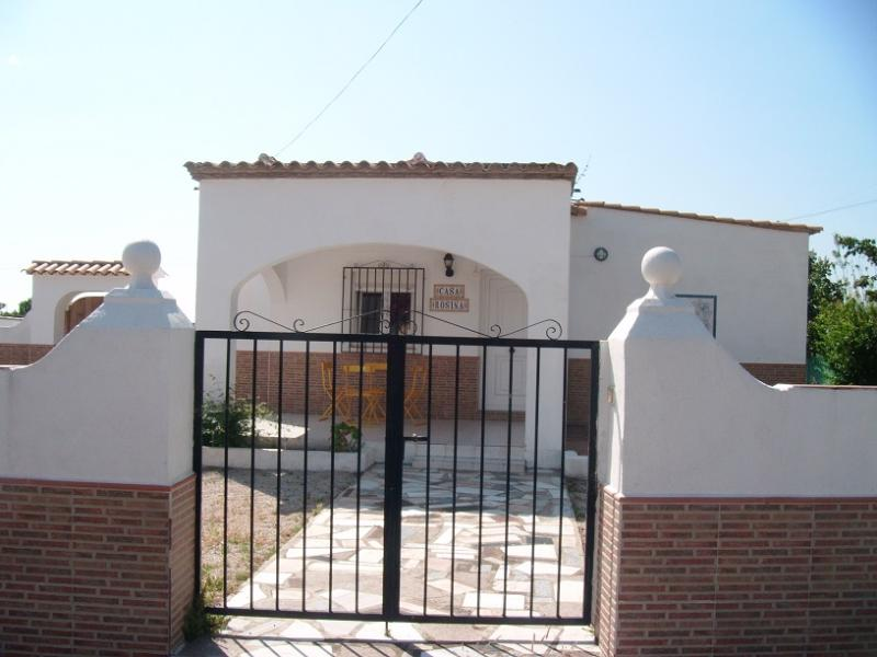 View upon arrival - 4 bedroom traditional Spanish Casita with pool - Oliva - rentals