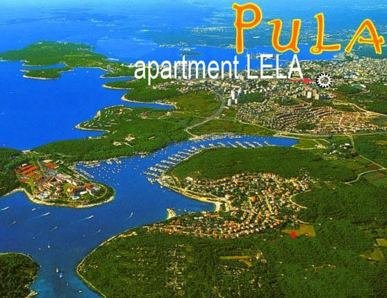 Position on the map of the city - Apartment Lela-Pula 4+2 - Pula - rentals
