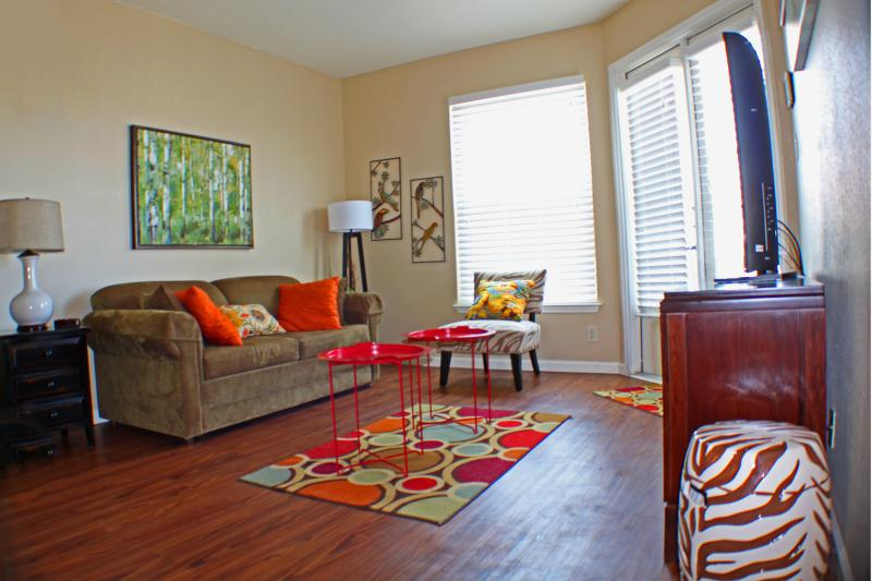 Large, comfortable fold out sofa that converts into full size bed. - Modern, Renovated Condo with Gulf View *New Pics* - Corpus Christi - rentals