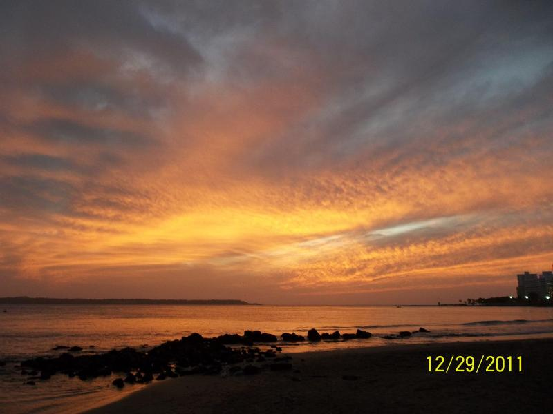 Sunset near the apartment - Clean and Cozy Define Us; 2 Min Walk to the Beach. - Cartagena - rentals