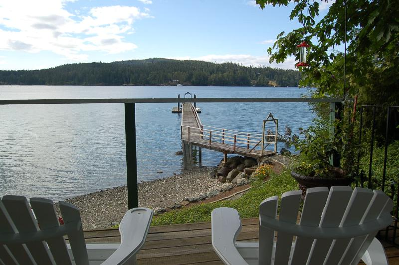 Deck view - Private Waterfront Cottage - Sooke - rentals