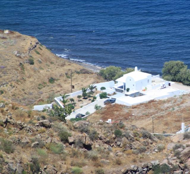 Total view of Summer lovers-villa from the volcanic mountain - SANTORINI SUMMER LOVERS HOUSE - Santorini - rentals