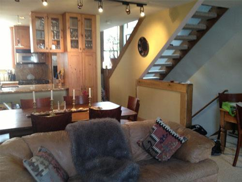Living room into kitchen - Townhouse of 3 levels - Vail - rentals