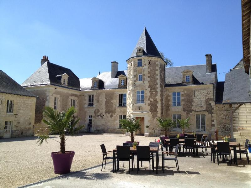 Chateau de Chargé courtyard - LA TOUR cottage at Chateau : Loire Valley Retreat - Chinon - rentals