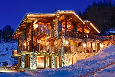 Luxurious Alpine Chalet Les Anges with Pool, Hot Tub & Staff Near Town & Slopes - Image 1 - Zermatt - rentals